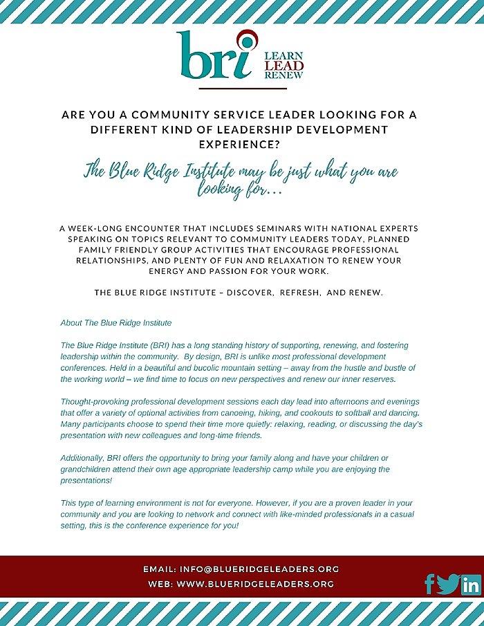 Members Only – Blue Ridge Leaders